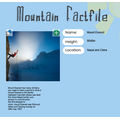 Erin's mountain fact file