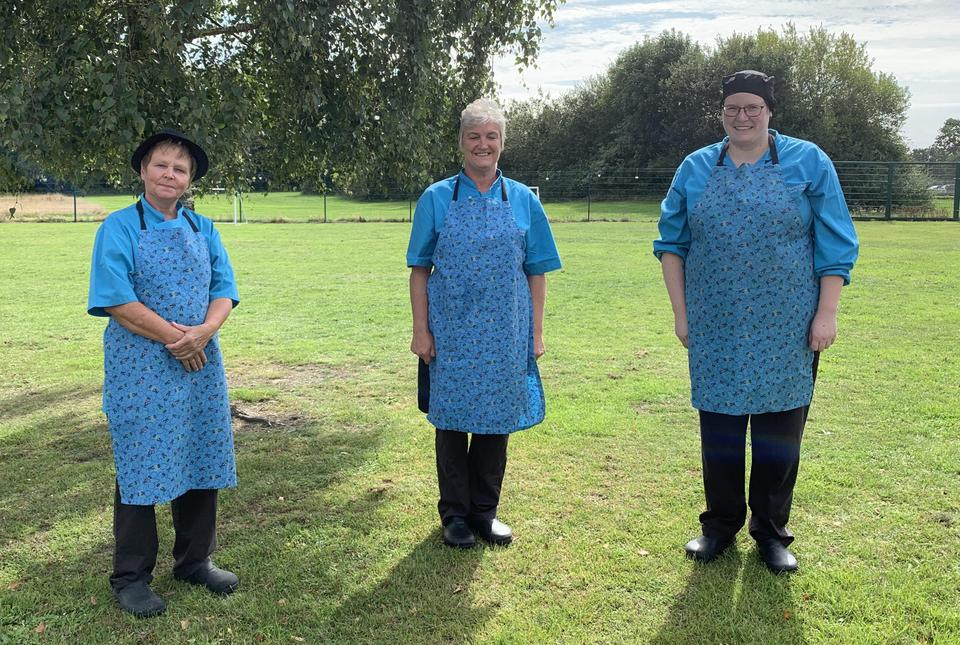 Mrs I Crouch (Cook), Mrs W Lancaster (Assistant Cook), Jodie Phipps (Assistant Cook)