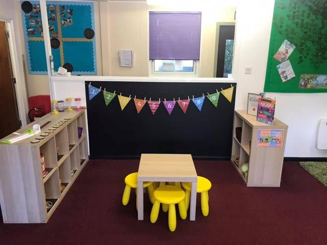 The maths area in the oak room