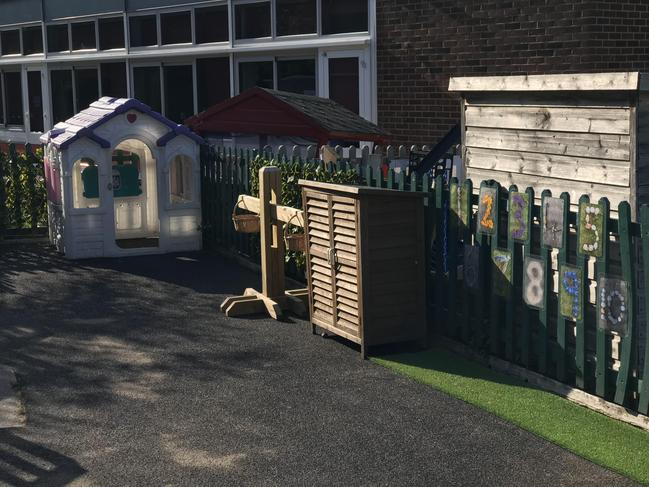 Maths area, complete with new wooden play scales