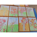 Year 1 Spring Blossom in the style of Van Gogh