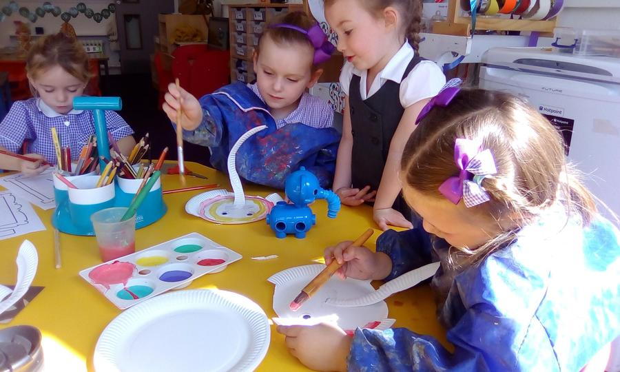 Developing fine motor skills and forms of expression