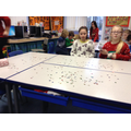 Year 5's tables were looking super sparkly!