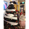 Reception's tree was covered in toilet roll!