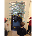 Year 6 had to climb into class throughout the day!
