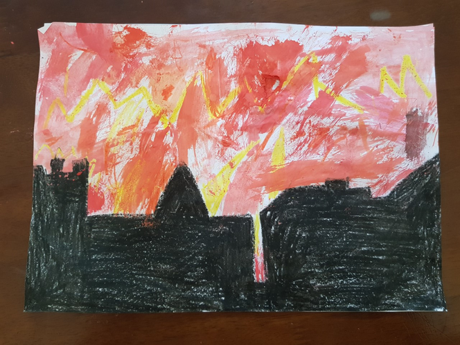 The Great Fire of London by Santiago
