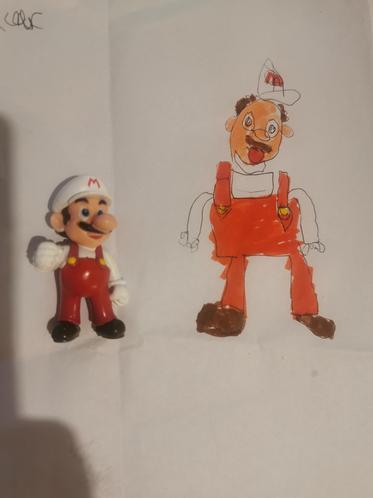 Connor's Mario action figure