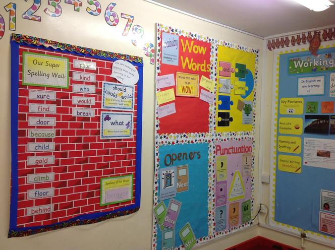 Our spelling wall
