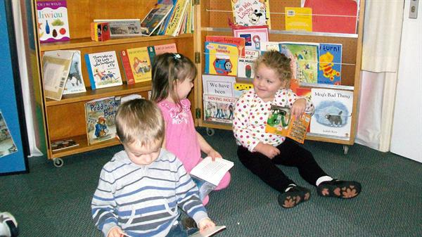 Sharing some books in the book corner