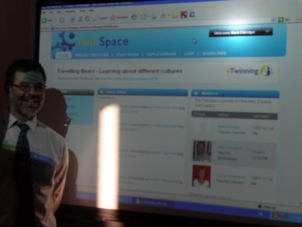 Mr Hodgkins investigates Twinspace.
