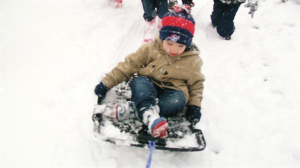 We had great fun in the snow!