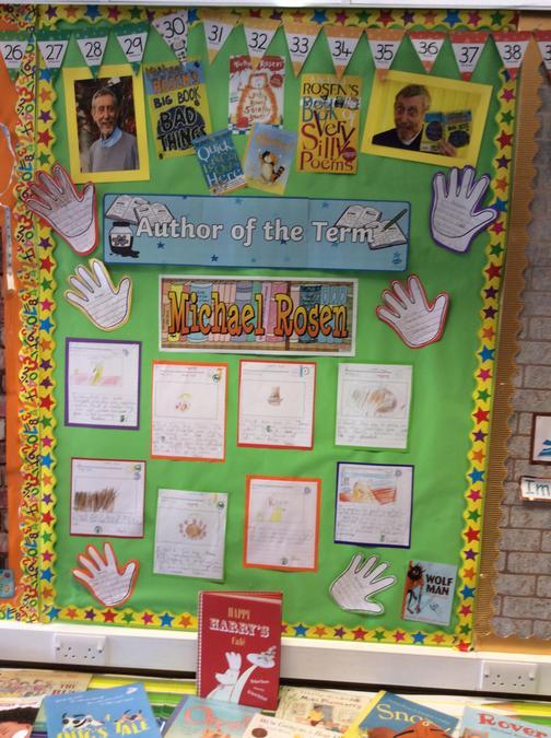 Class 6 author display.