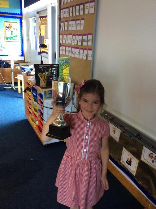 Exemplary behaviour from Mia all week. You are a superstar!