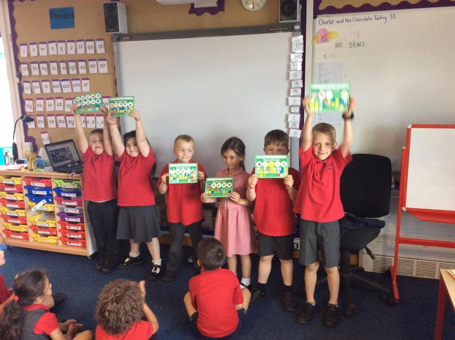 Well done to the children for completing their sticker charts.