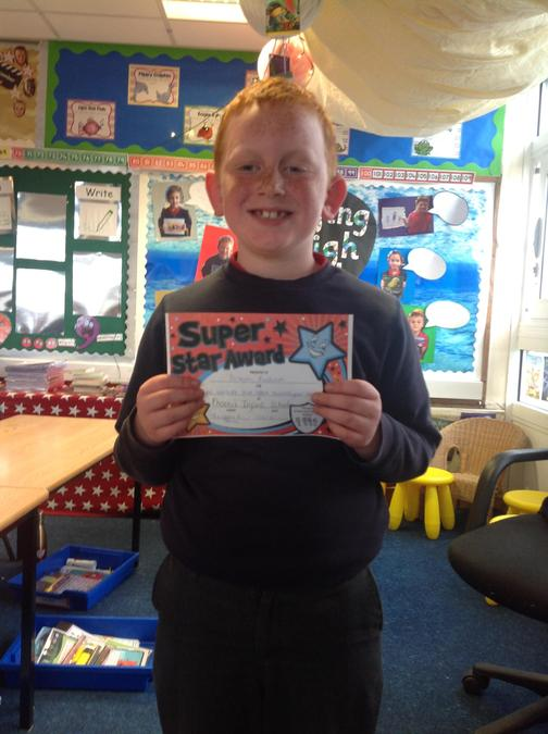 What a fantastic attitude you have been showing towards your learning Joseph! Great job!