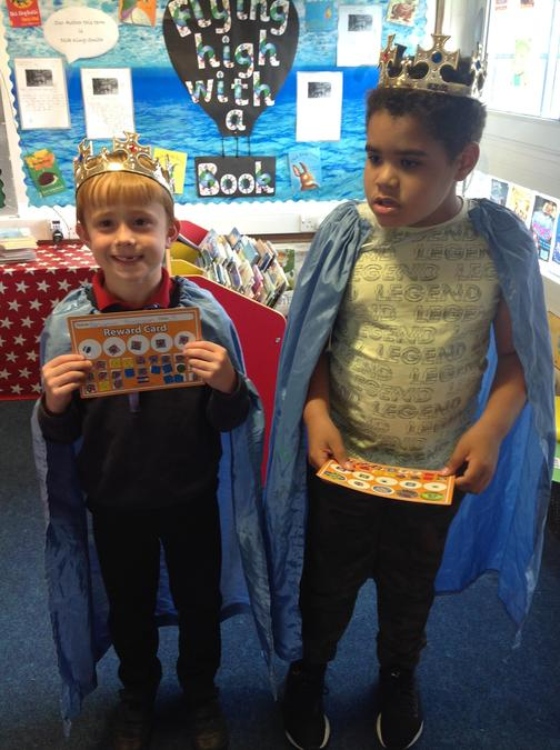 Well done Ali'zah and Ben, enjoy being kings!