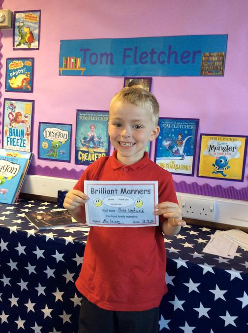 Blake has shown lovely manners all week. You always remember your please and thank yous!