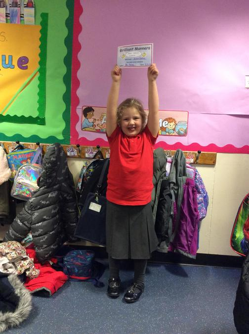 Grace never forgets her please and thank yous. Fantastic manners all week!
