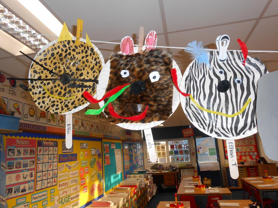 Our African animal masks.