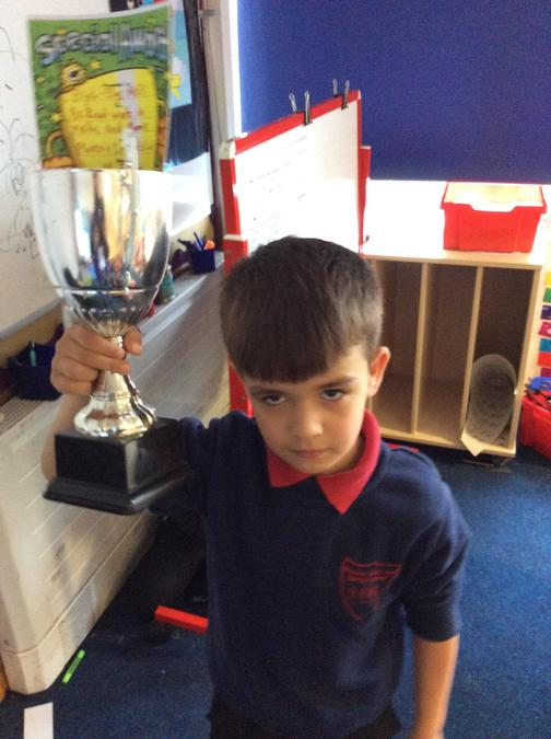 Great effort with number bonds from Elijah this week. You really deserve the trophy.
