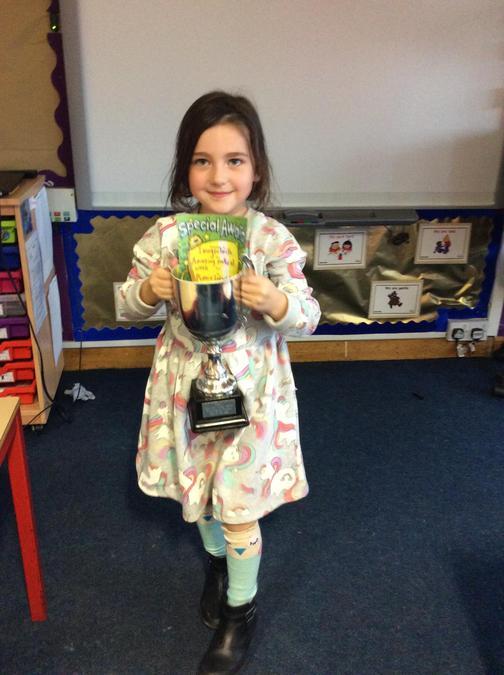 Imogen has done fantastic maths all week! You deserve the trophy for your brilliant effort
