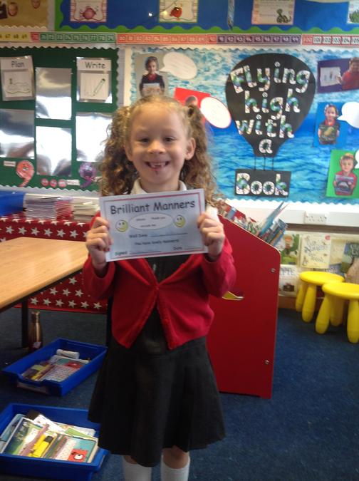 Well done for always remembering to say please and thank you Emily!