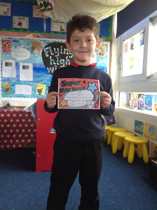 Kian really impressed us with his effort in Art this week!