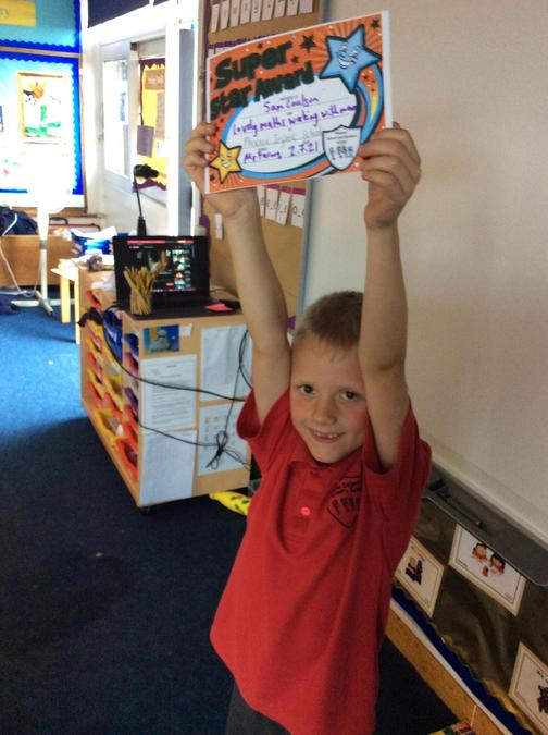 Lovely work in maths by Sam. You counted money so confidently!