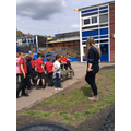 We looked at the school to see which materials have been used to build our school.