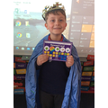 King Harry. Filled his sticker chart well done.