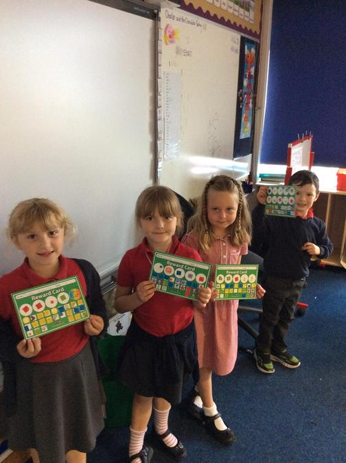 Well done, Phoebe, Laylah, Matilda and Tyrion for completing their sticker charts.