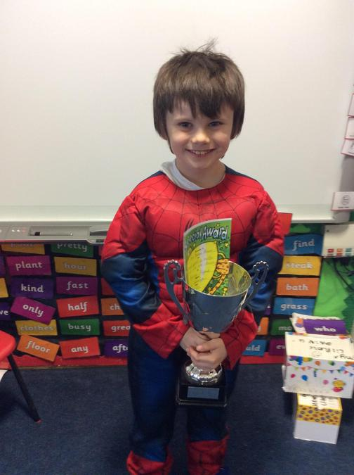 Trophy to Sam this week. Amazing effort no matter what we are learning about.