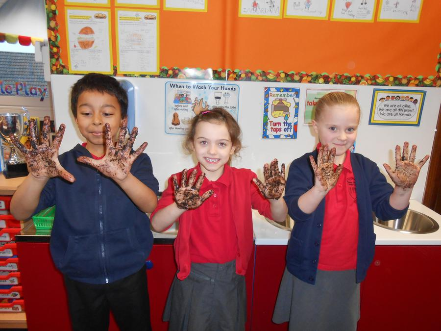 Our science investigation about washing hands