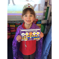 Well done to Queen Faith. Filling her sticker chart.