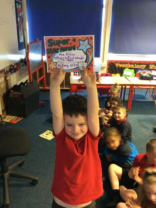Max has set a fantastic example to the rest of the children. Great job!