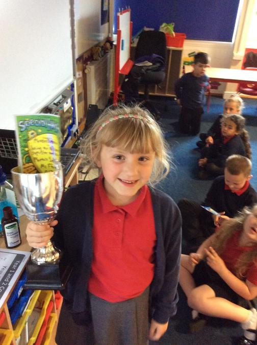 Super all round performance from Phoebe and she collects the trophy. Great work.