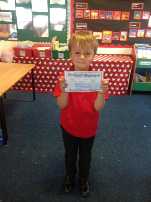 Sean is our manners superstar this week for being such a polite young man!