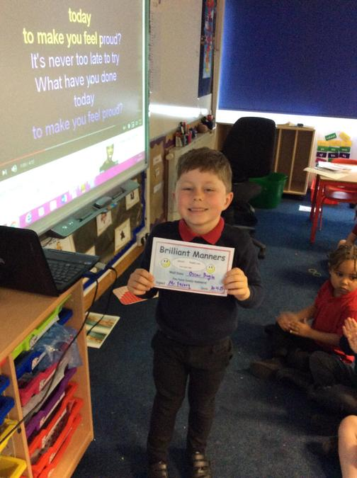 Lovely manners from Oscar this week, well done!