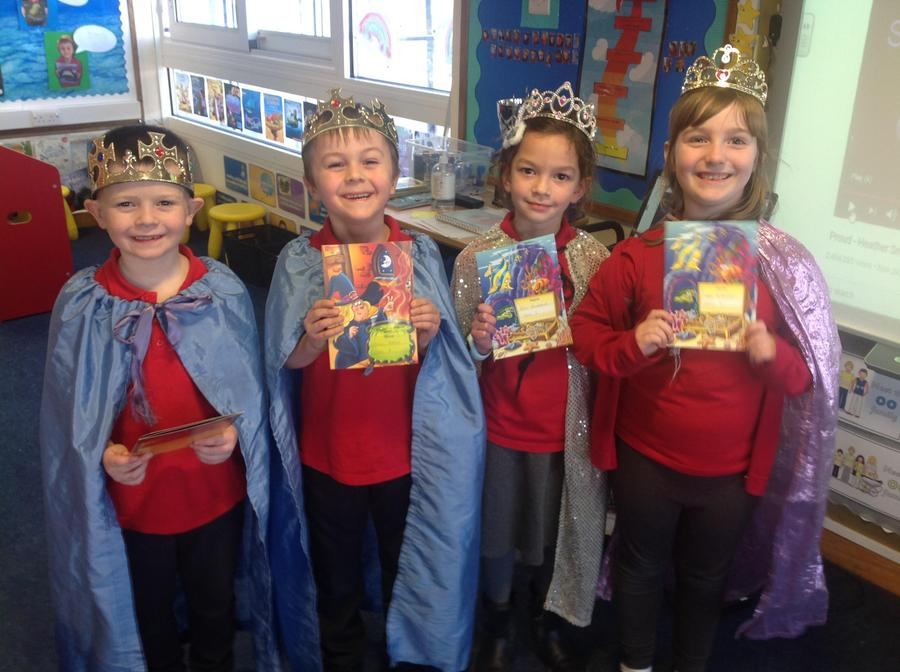 We have some kings and queens this week!Well done Logan, Sean, Ellie and Hope!
