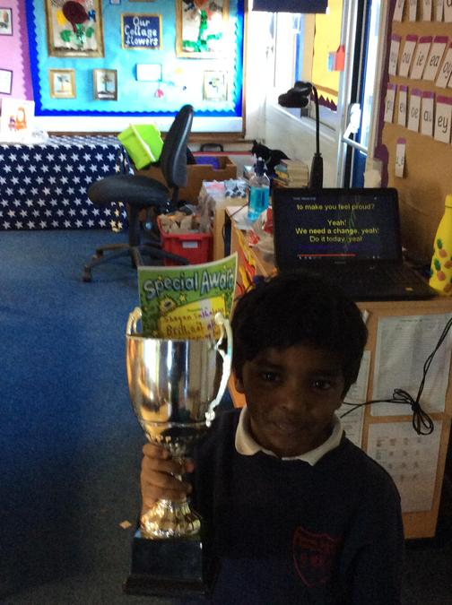 Shayan has had a brilliant attitude since coming back. Well done, you  always having a go