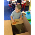 Linked to deconstructed role play - making trains!