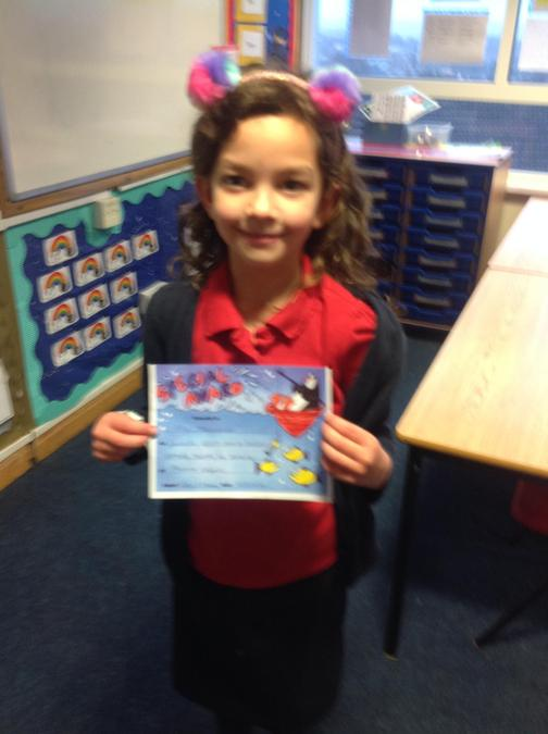 Ellie has an brilliant attitude towards her learning, well done!