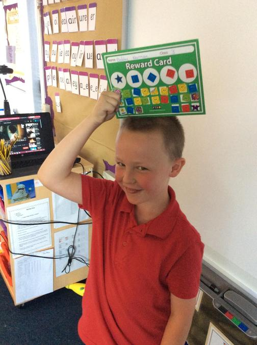 Well done to Bobby for completing his sticker chart.