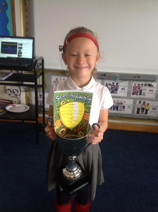 Well done to Emily for winning the trophy for her brilliant attitude and effort!