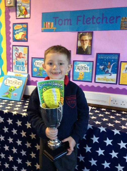 A super week for Freddie who gets the trophy. You have worked hard and been very kind!