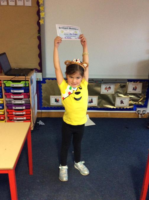 Lovely manners from Mia. Well done and keep up the good work.