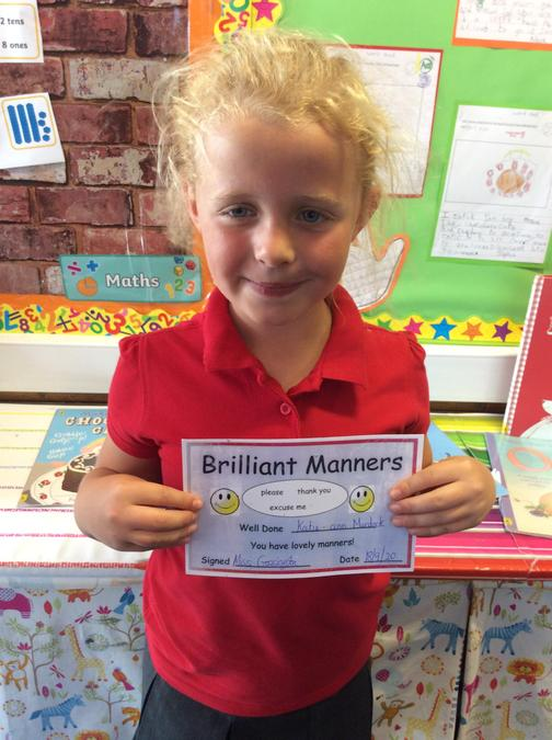 Super Manners this week Katie.