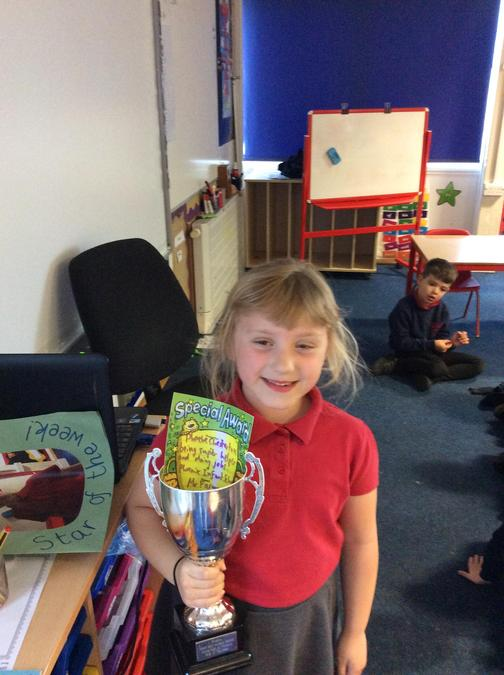Phoebe is a super helper and always makes sure that the classroom is kept tidy. Well done!