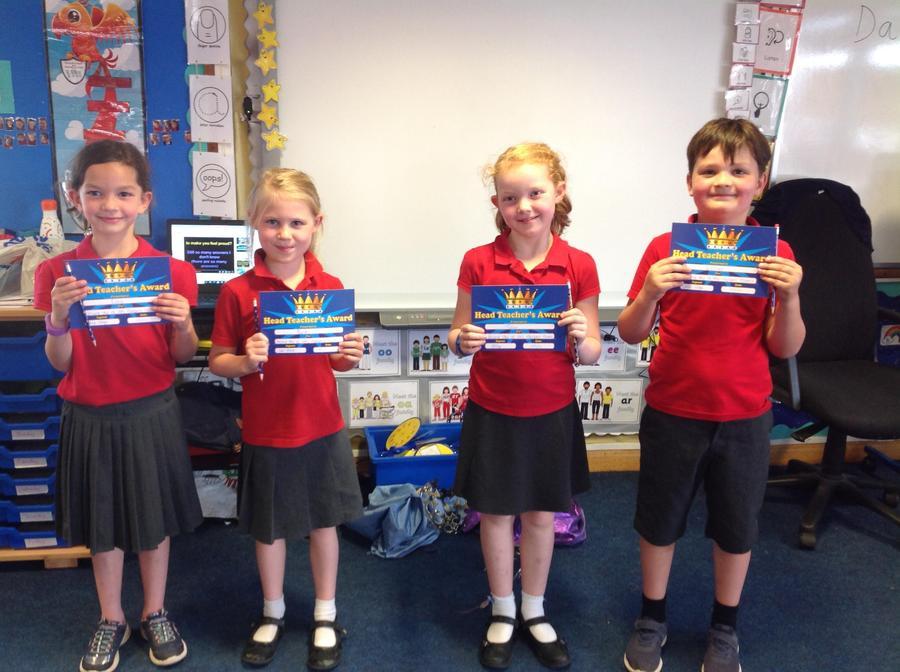Super stars Ellie, Xavier, Ayla and Tilly were all Mrs Harper's Heroes!