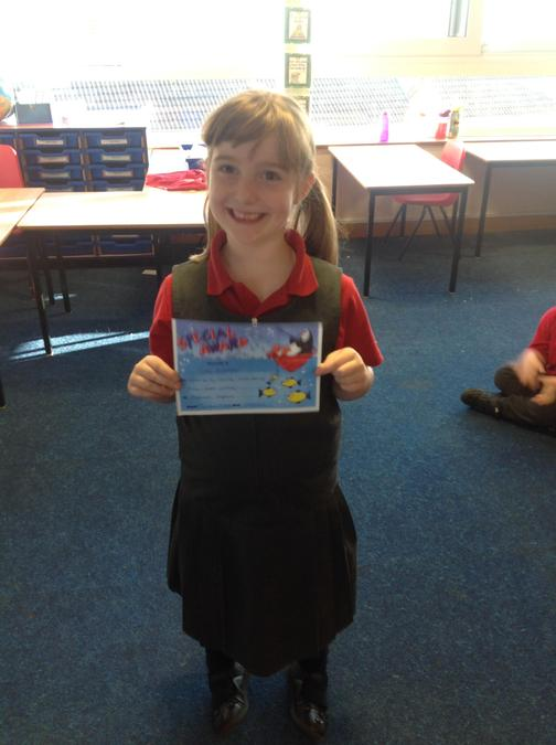 Brilliant independent writing this week Hope! Well done!